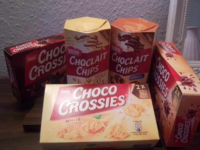 So viele Choco-Crossies.